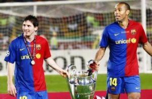 Lionel messi Thierry Henry Barcelona