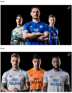 Jersey Cardiff City home away 2018-19